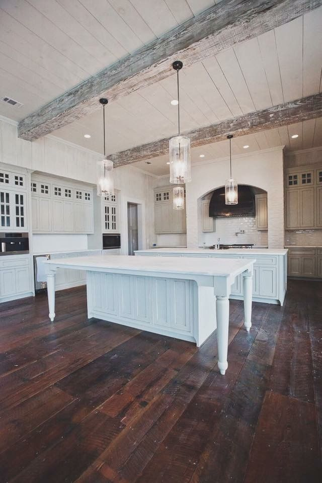 10 Ft Kitchen With Beams And Shiplap New Homes Rustic Kitchen House