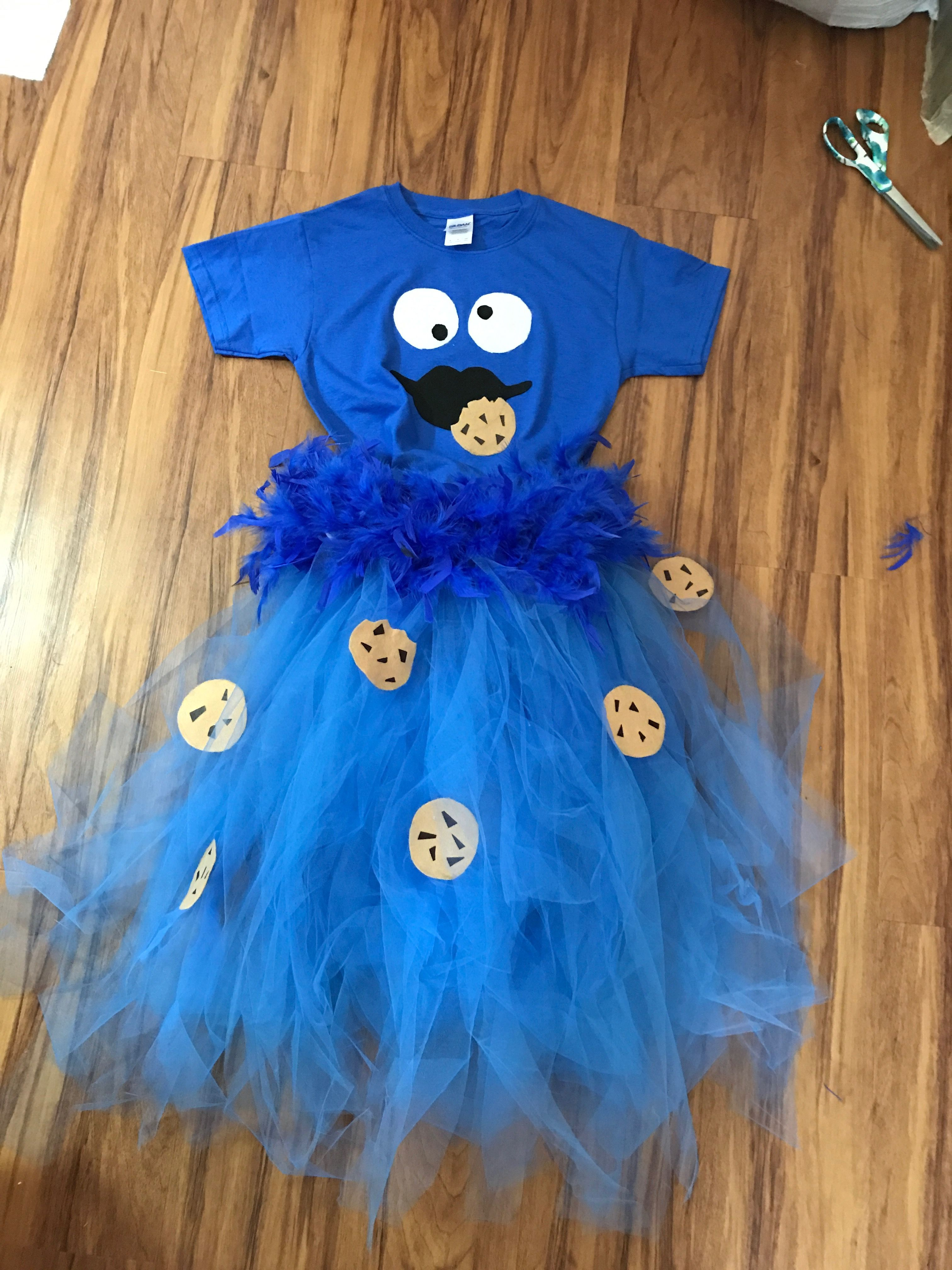 Cookie monster costume for my niece with images cookie
