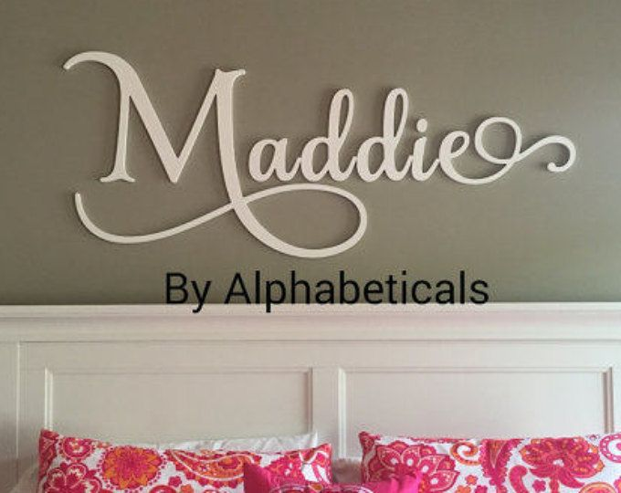 Wooden Letters For Nursery Signs Alphabeticals Wall Name Sign Decor Hanging