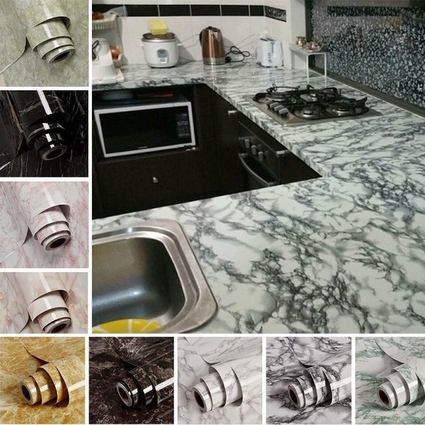 5m Marble Pattern Water Resistant Moistureproof Removable Self