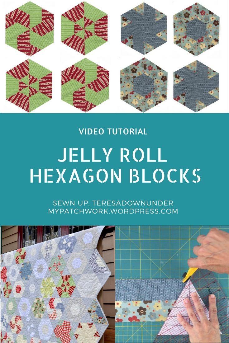Video tutorial jelly roll hexagon blocks tutorials hexagon video tutorial jelly roll hexagon blocks baditri Images