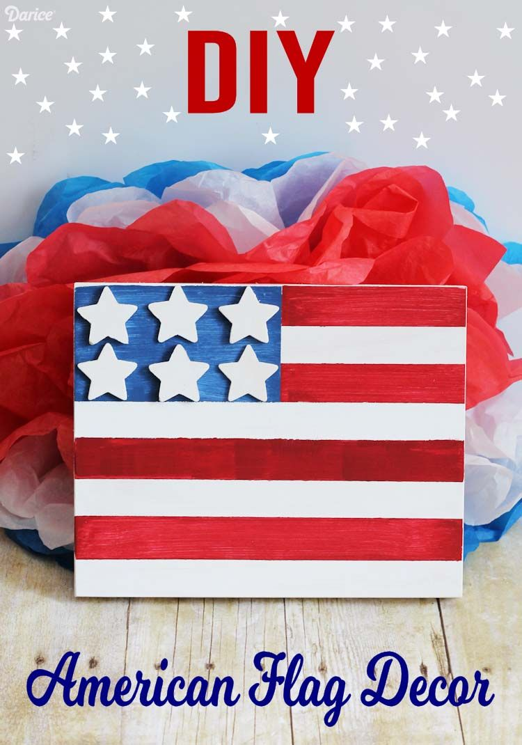 2fde3073fbc2 Looking for an easy patriotic home decor project to do but don t want to  break the bank  This DIY American flag craft is perfect for just that!