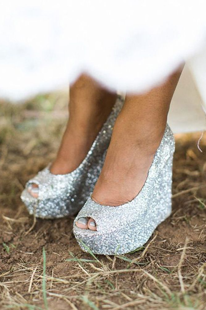 36 Wedge Wedding Shoes To Walk On Cloud Wedding Forward Wedge Wedding Shoes Silver Wedding Shoes Bridal Shoes