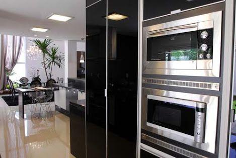 cozinha preta e branca - Pesquisa Google