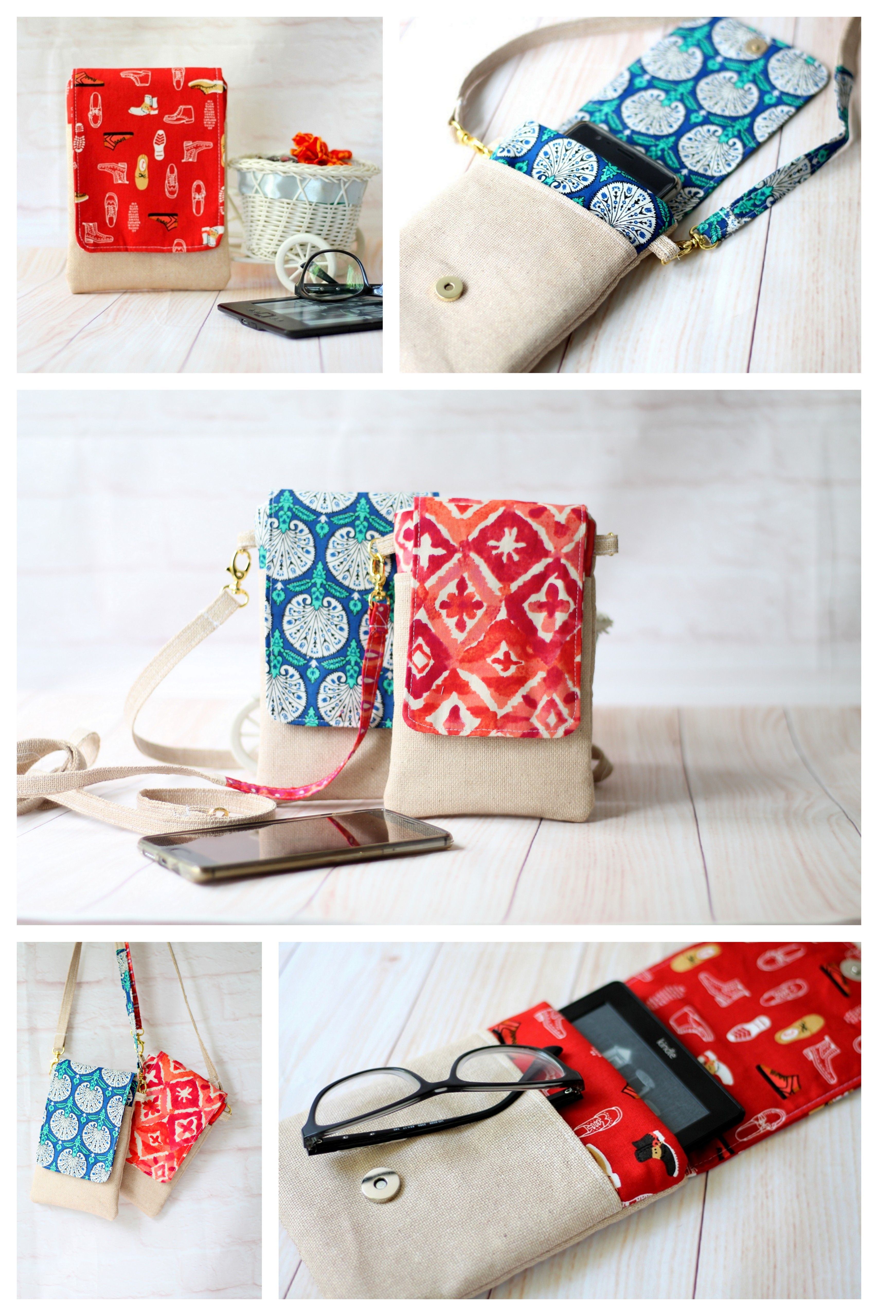 Pdf Pattern Mini Cell Phone Bag Crossbody Pouch Small Sling Etsy Phone Bag Pattern Crossbody Bag Pattern Crossbody Bag Diy