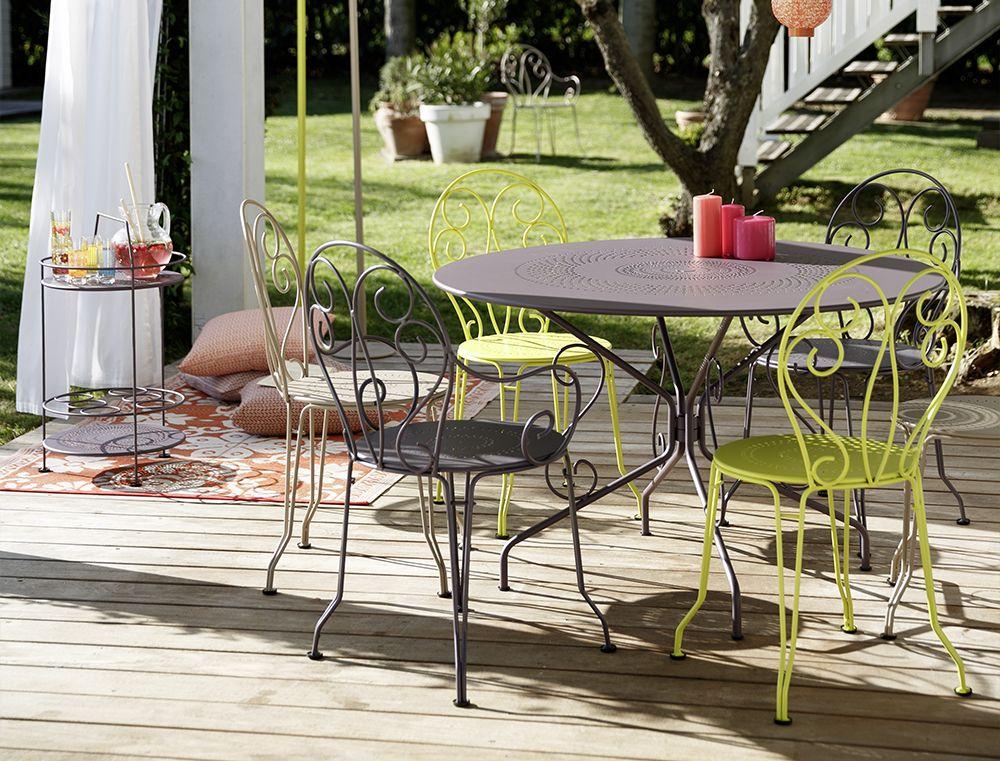Table Ø 117 cm | OUTDOOR | Pinterest | Table jardin, Fer forgé et ...