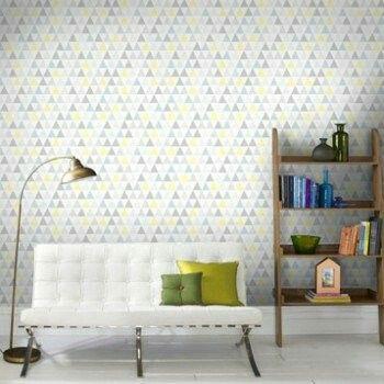 Geometrical wallpaper (16,90\u20ac Leroy Merlin) - to put on a small part