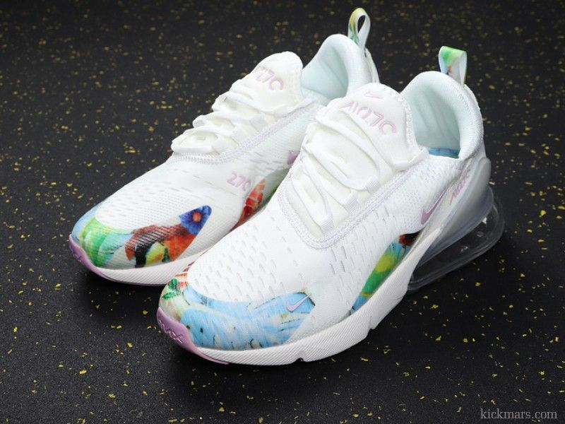 Nike Wmns Air Max 270 White Floral AT6819 100 in 2020 | Cute