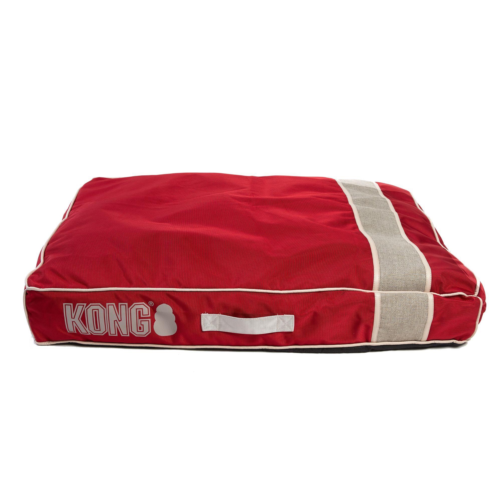 "Kong Mattress Dog Bed size 30""L x 40""W x 5""H, Red Dog"