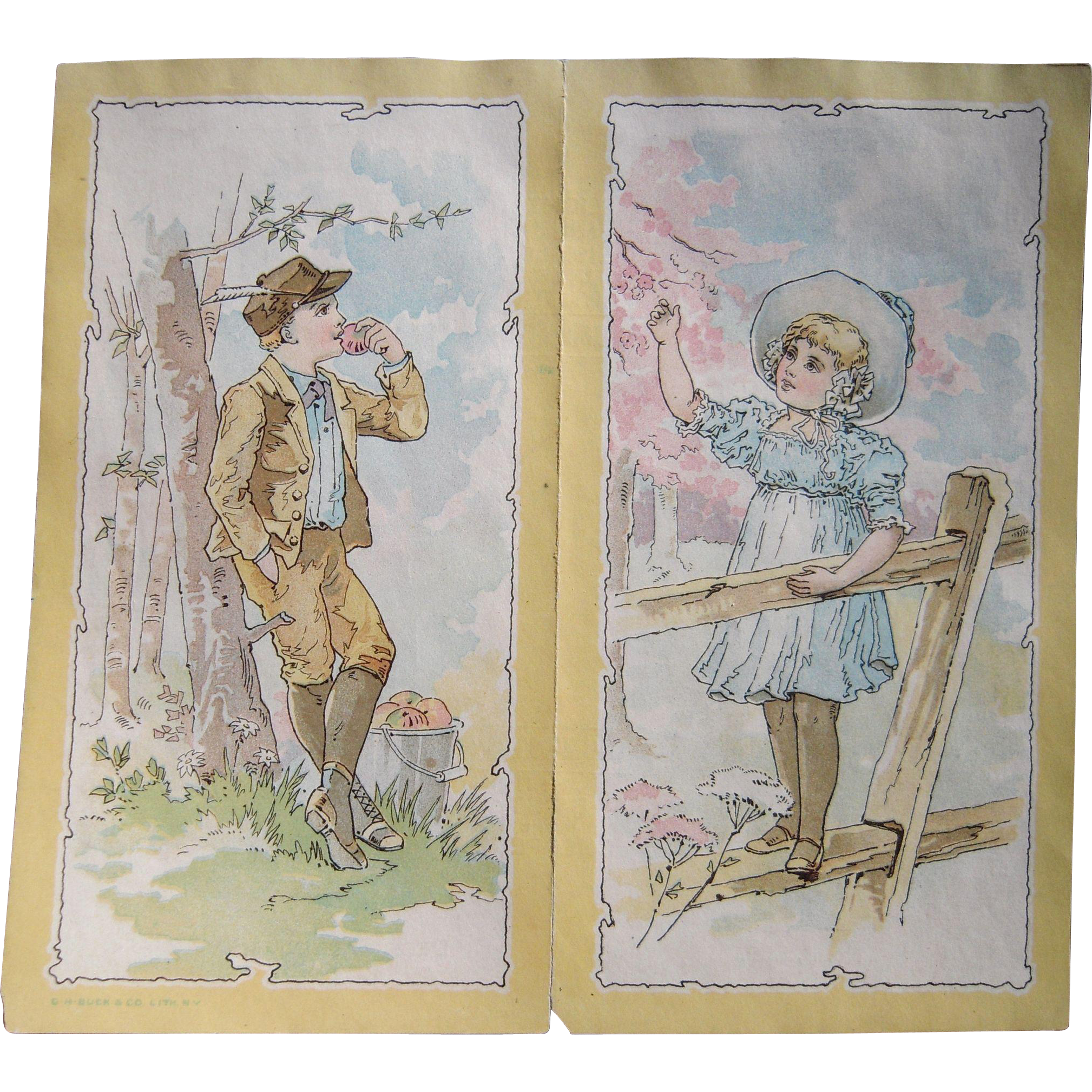 Victorian Advertising Trade Card/Flyer for Domestic Sewing Machines