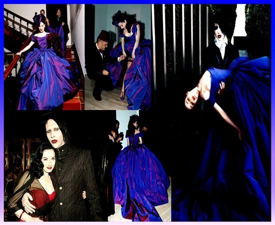 Her Wedding Dress Celebrity Wedding Dresses Dita Von Teese Wedding Wedding Dresses