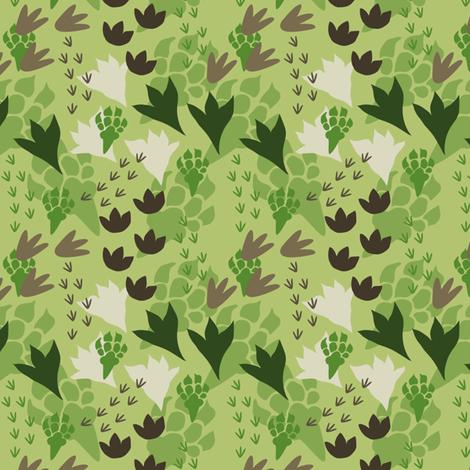 Dinosaur tracks fabric by bojudesigns on spoonflower custom fabric fabric love - Paperboy dinosaur wallpaper ...