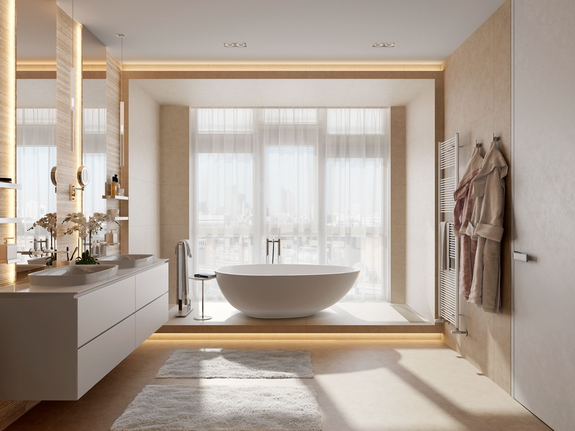 Photo of Master bathroom designs with colour trends dominating in 2019