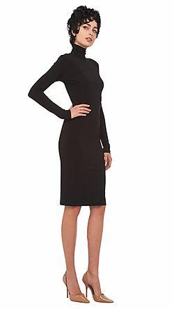 KamaliKulture, Turtleneck Dress In Black