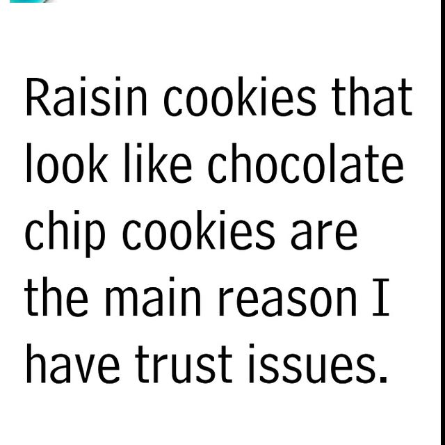 Trust Issues Raisin Cookies Chocolate Chip Cookies Dog Food Recipes