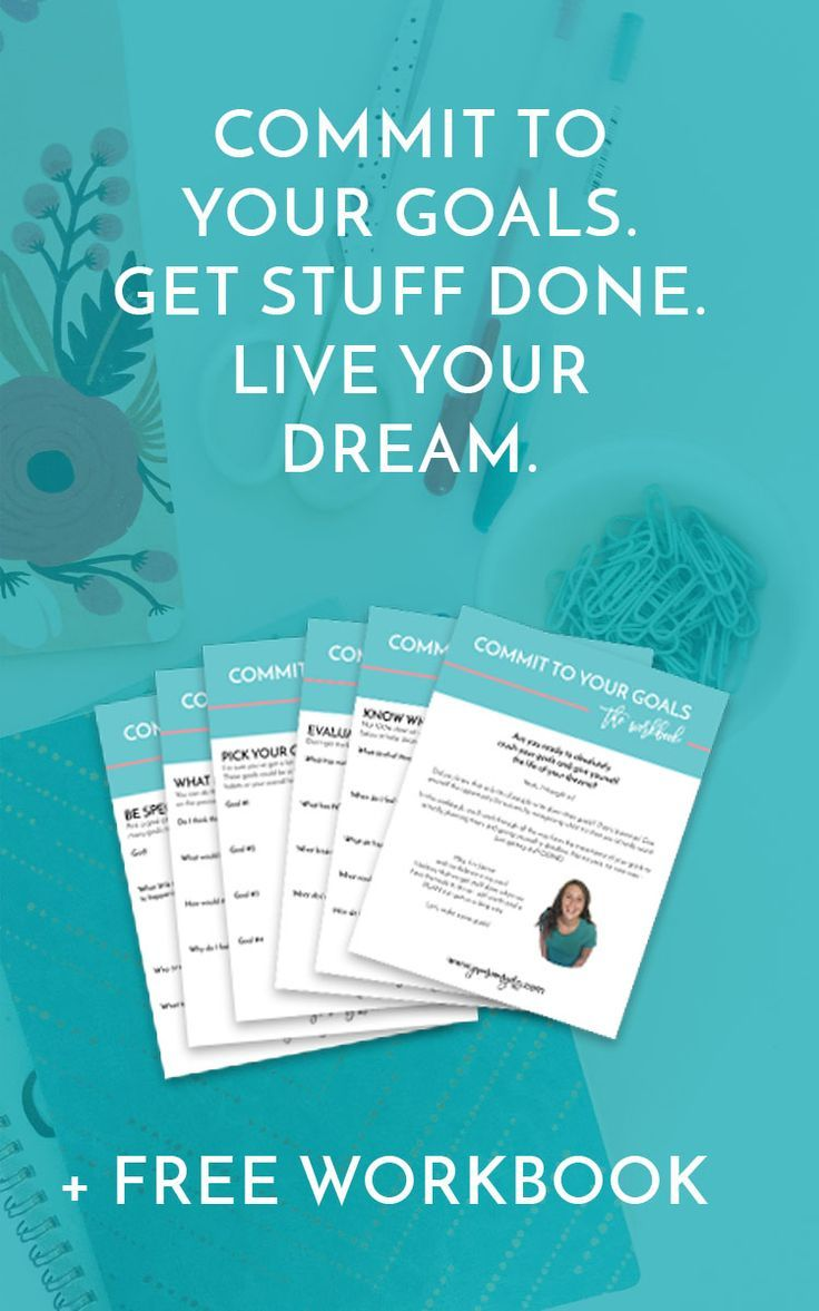 Workbooks goals workbook : commit to your goals | Goal settings, Goal and Business