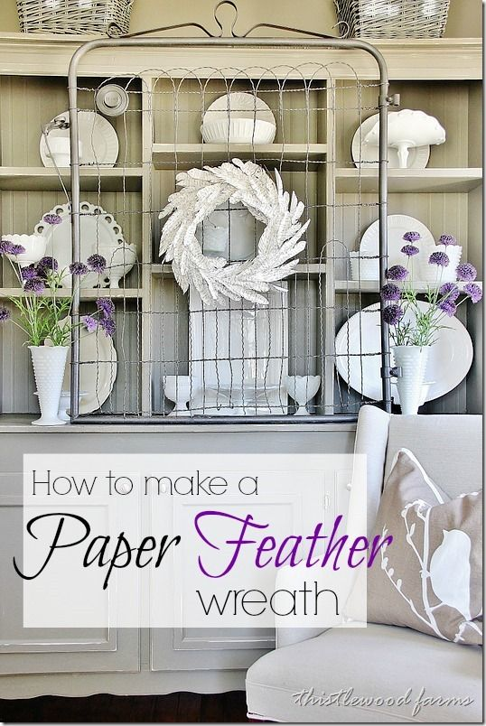 How To Make a Paper Feather Wreath