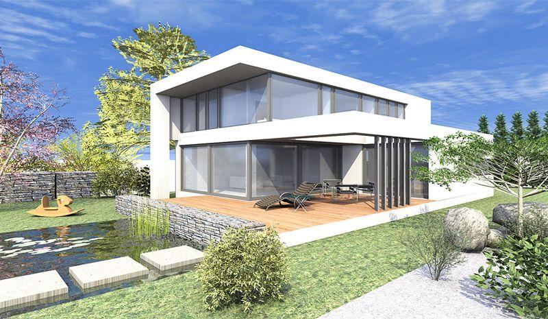 Modernes Haus Flachdach Design House Pinterest House House
