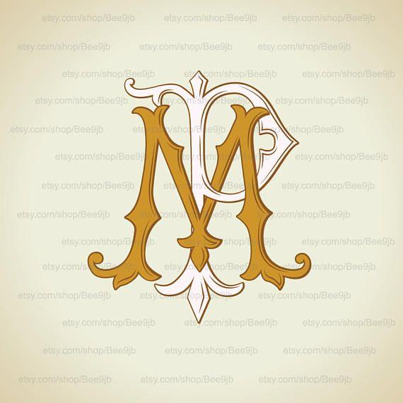 Wedding Logo Mppm Vintage Monogram Wedding Clip Art Etsy In 2020 Wedding Logos Vintage Monogram Typography Logo Inspiration