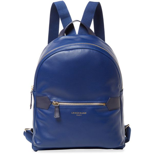 6f676f2184bd Longchamp Longchamp 2.0 Small Leather Backpack - Dark Blue Navy ( 359) ❤  liked on Polyvore featuring bags
