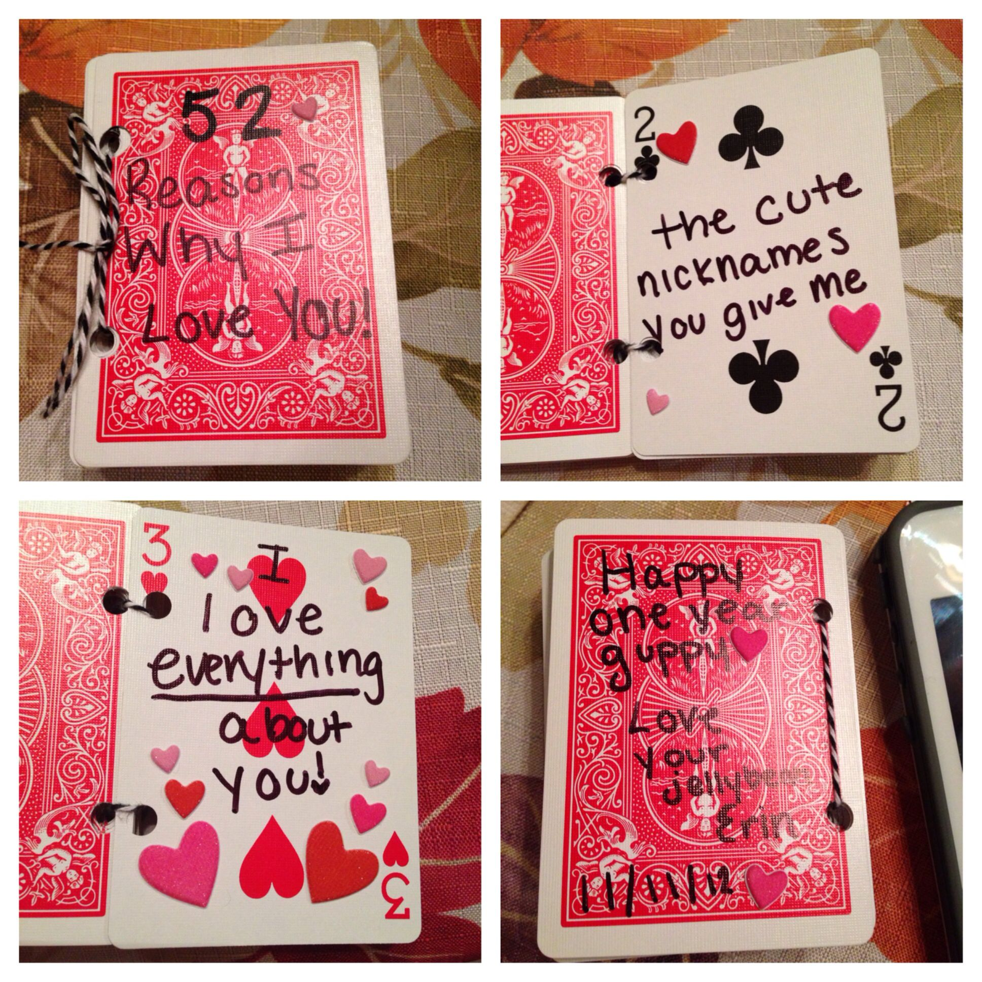 52 Reasons Why I Love You Diy Gifts Anniversary