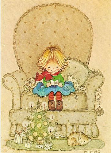 Girl and big armchair by Paicil, via Flickr