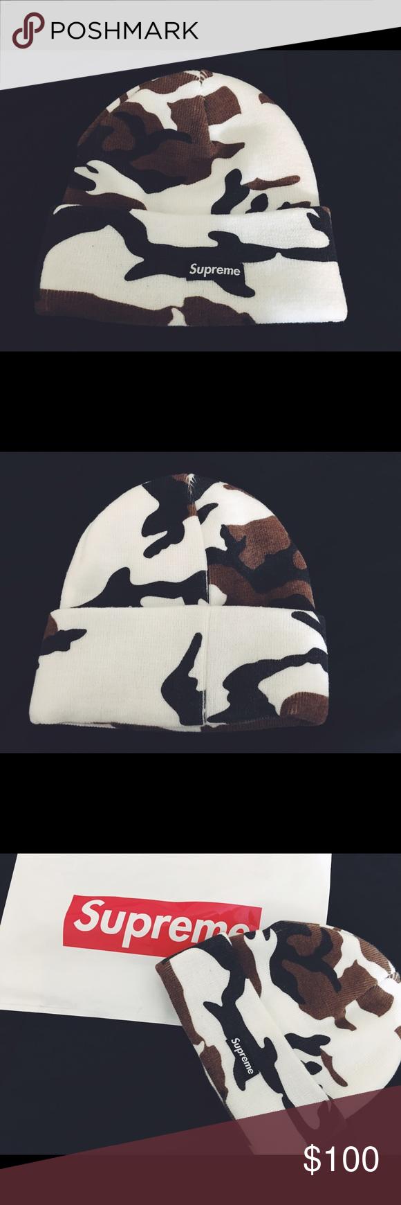 75d18828618 Supreme camo beanie (white) White Camo beanie from supreme original bag  included Supreme Accessories Hats