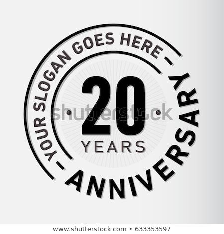 20 years anniversary logo template vector and illustration