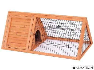 clapier en bois de forme triangulaire pour lapins et. Black Bedroom Furniture Sets. Home Design Ideas