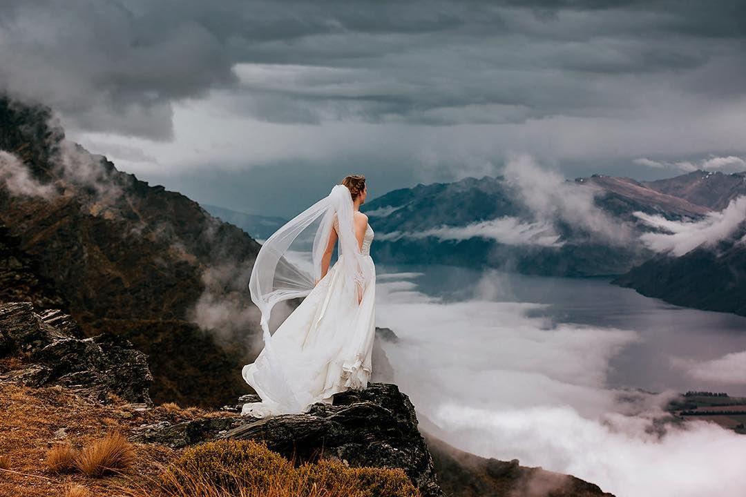 Destination Heli Weddings Nz Destinationweddingsnz On Instagram Like An Angel Ready To Fly D Queenstown Wedding Wedding New Zealand Destination Wedding