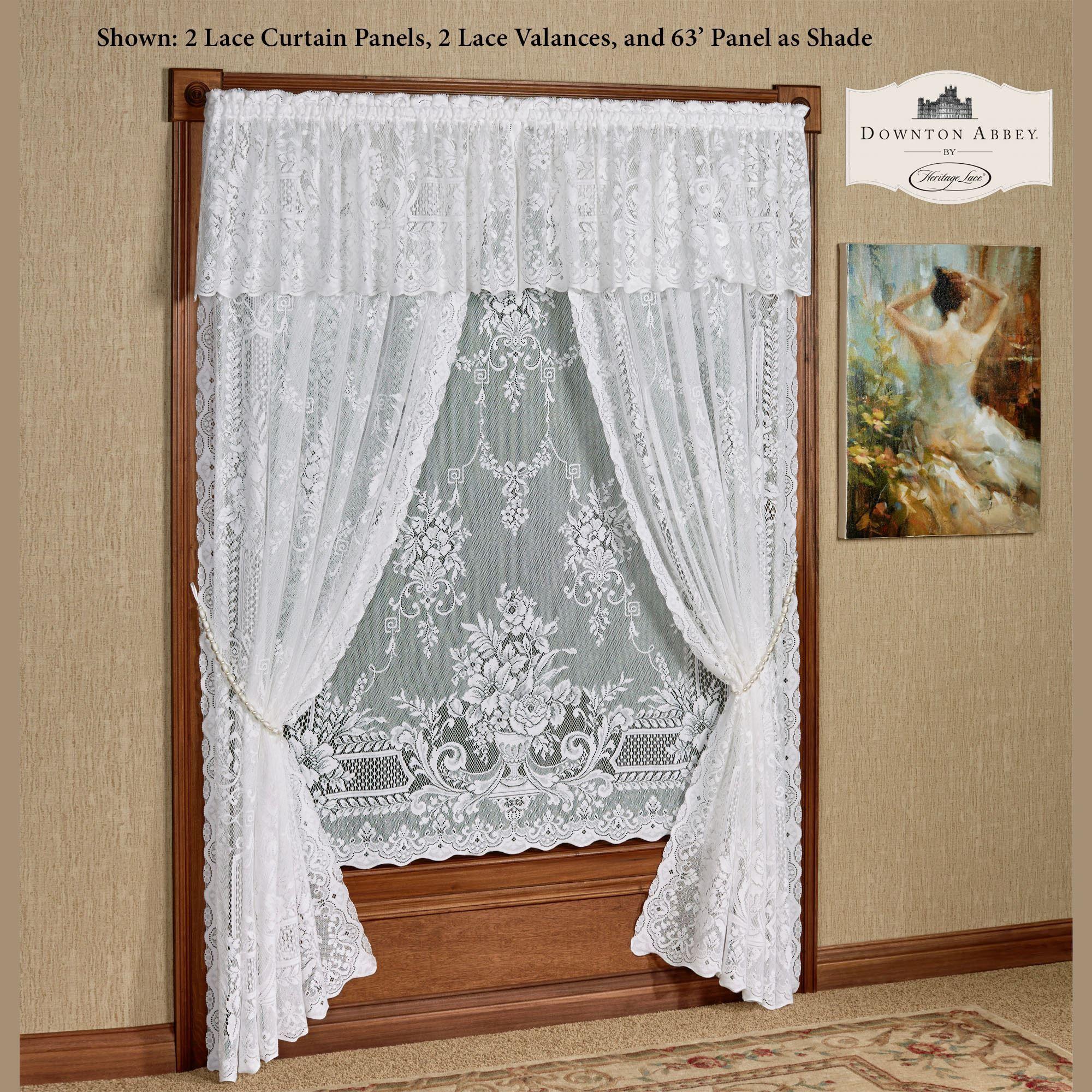 Aristocrat Lace Curtain Panel White Lace Curtains Lace Window