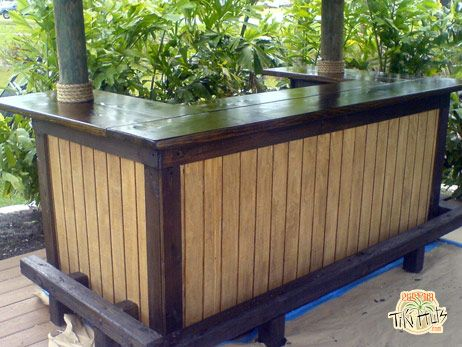 drink at your own custom built tiki bar click pictures to ... on Backyard Tiki Hut Designs id=67744
