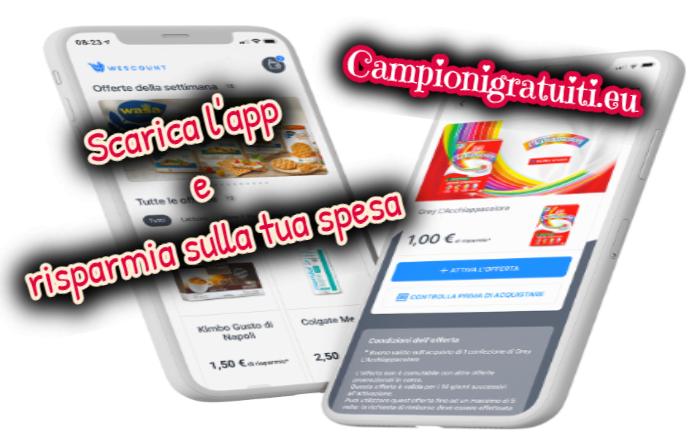 WeScount: scarica l'App e ottieni il cashback