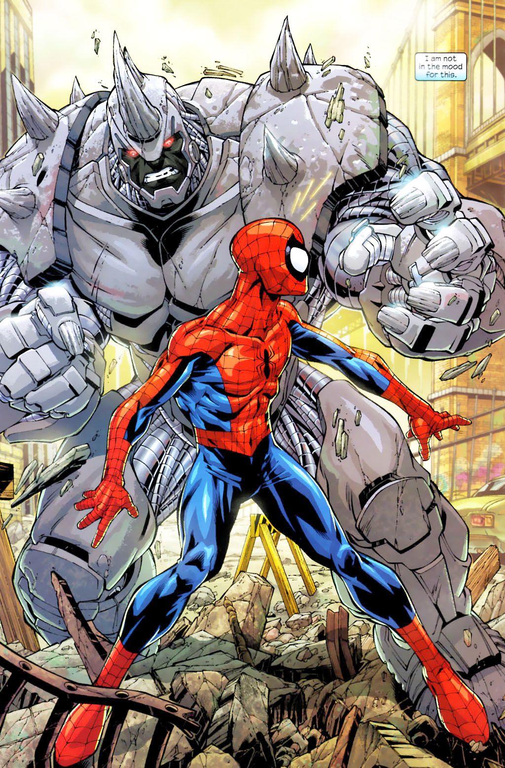black spiderman vs rhino - photo #37