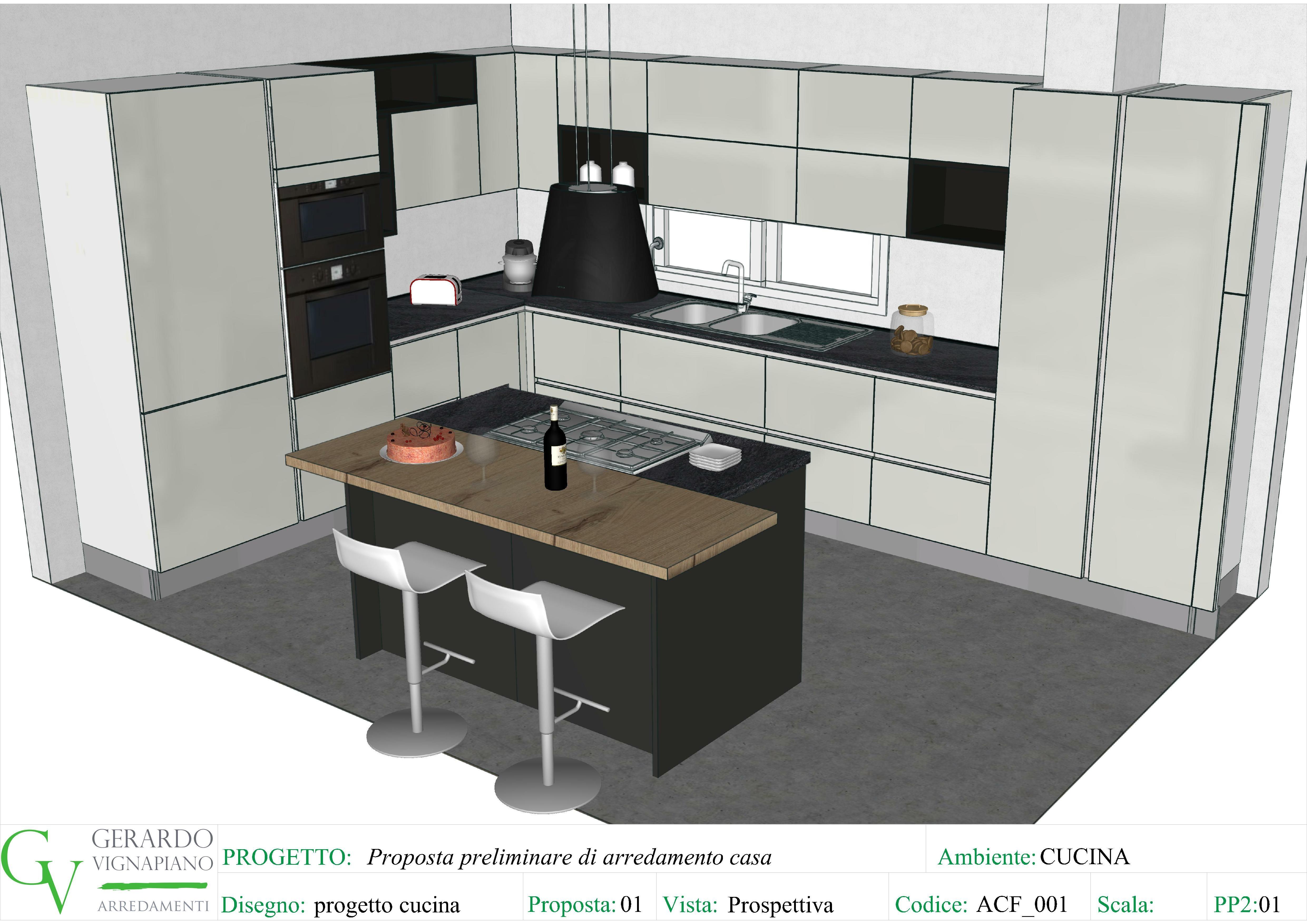 Progetto Cucina Con Isola Centrale Cucine Cucine Colorate Isola Cucina