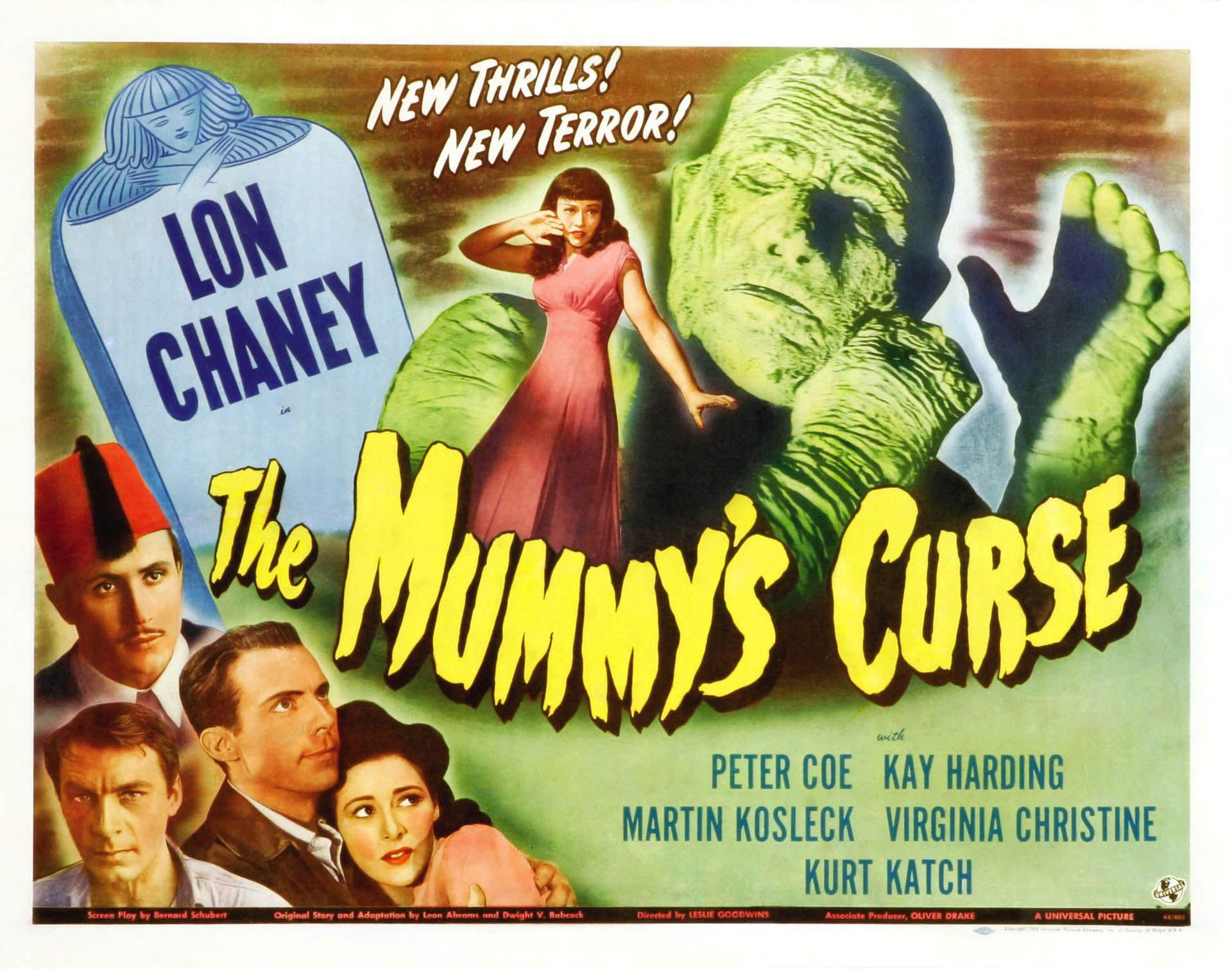 The Mummys Curse Ii Vintage 1940s Movie Posters Wallpaper Image Classic Horror Movies Posters Horror Movie Posters Movie Posters