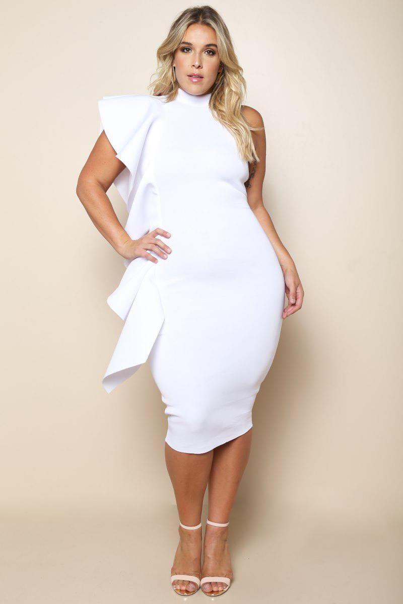 Ruffled Glam Plus Size Dress Dresses+ GS-LOVE | iFashion ...