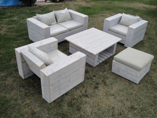 Salon Jardin En Palette: Bricolage creer du mobilier de jardin ...