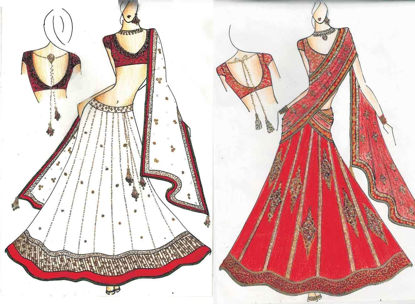 Fashion Designing Sketches Fashion Design Sketches Of