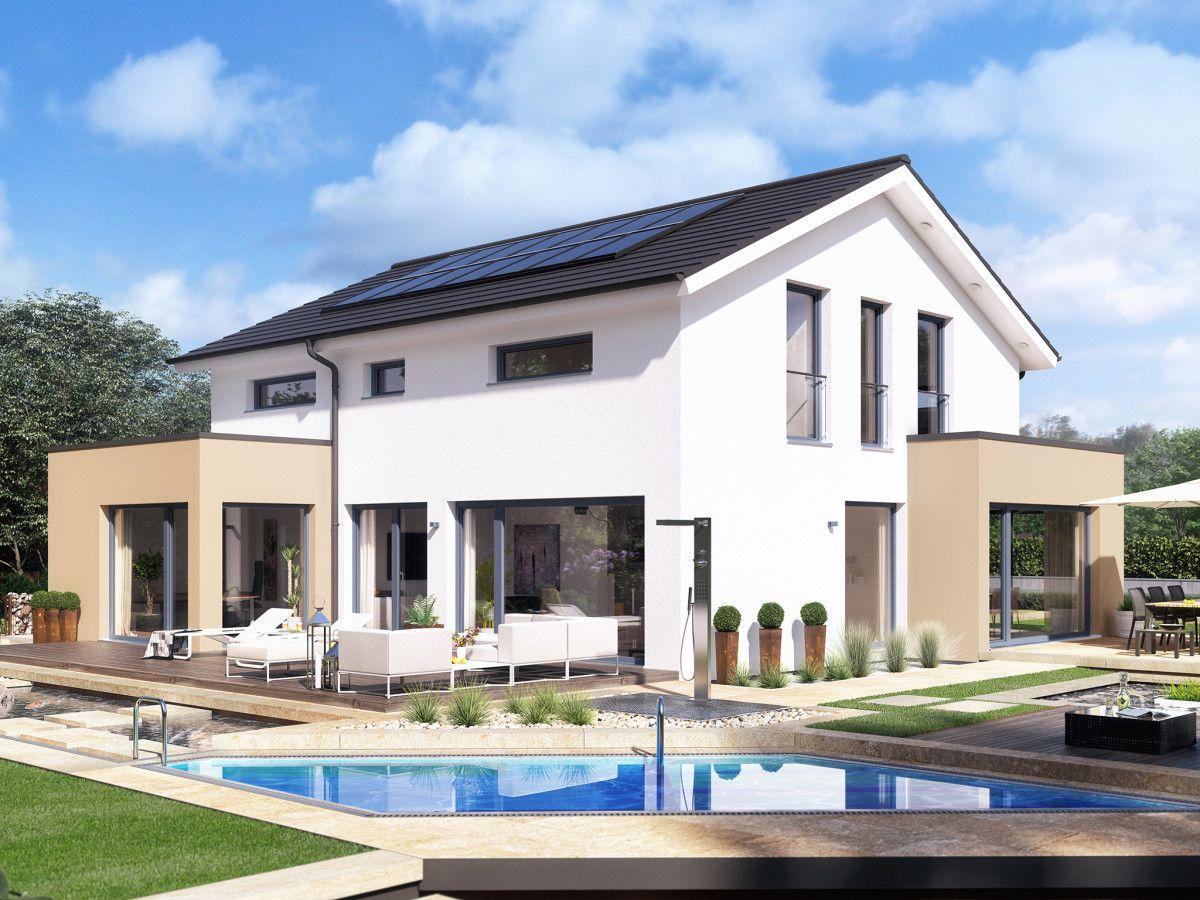 Modernes haus mit pool in deutschland  Design-Haus mit Satteldach - Einfamilienhaus Concept M 155 Bien ...