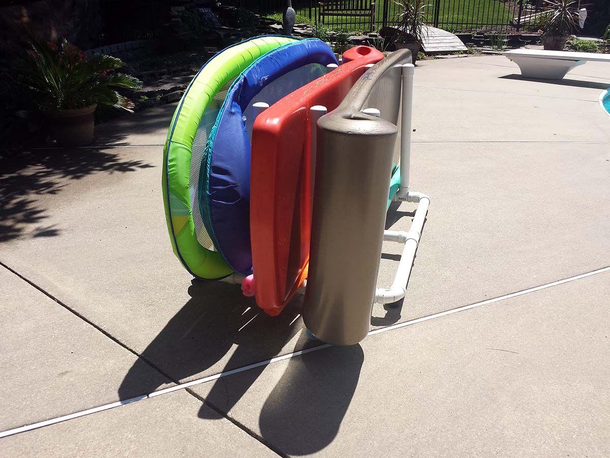 Pool Float Storage Ideas swimming pool towel rack bar tree float caddy Pool Rack For Pool Floats Storage