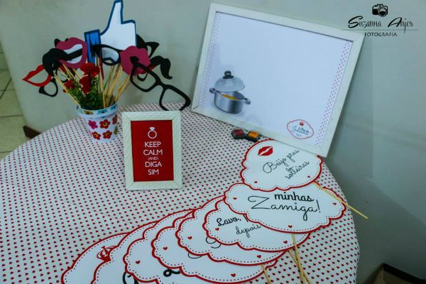cha de panela economico decoracao vermelho e branco faca voce mesmo (1) Decoraç u00e3o Pinterest -> Decoração De Cha De Panela Vermelho E Branco Simples