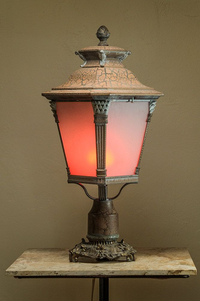 Art Deco Lantern by GodwinGlasscom on Etsy
