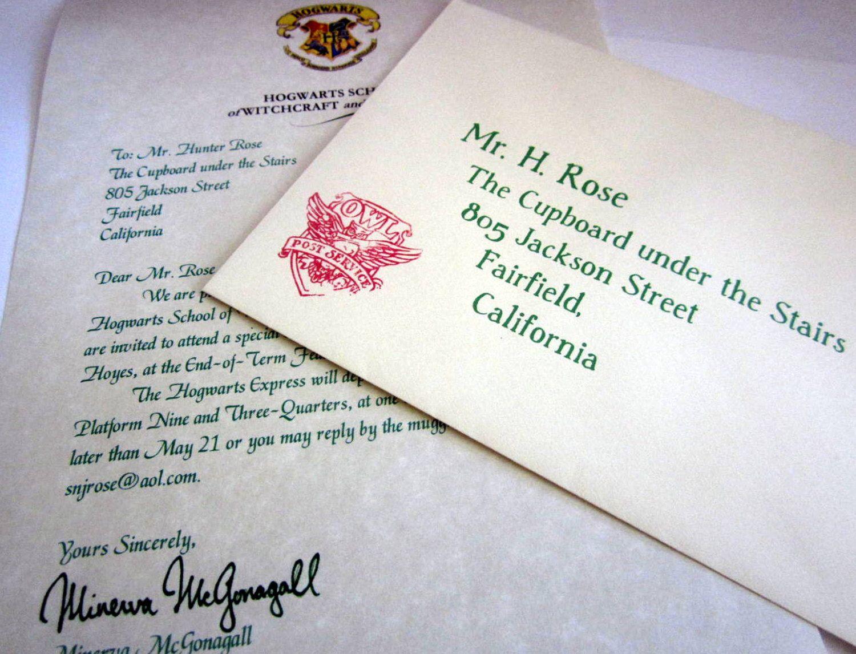 12 Wizarding School Acceptance Letter Birthday Invitations