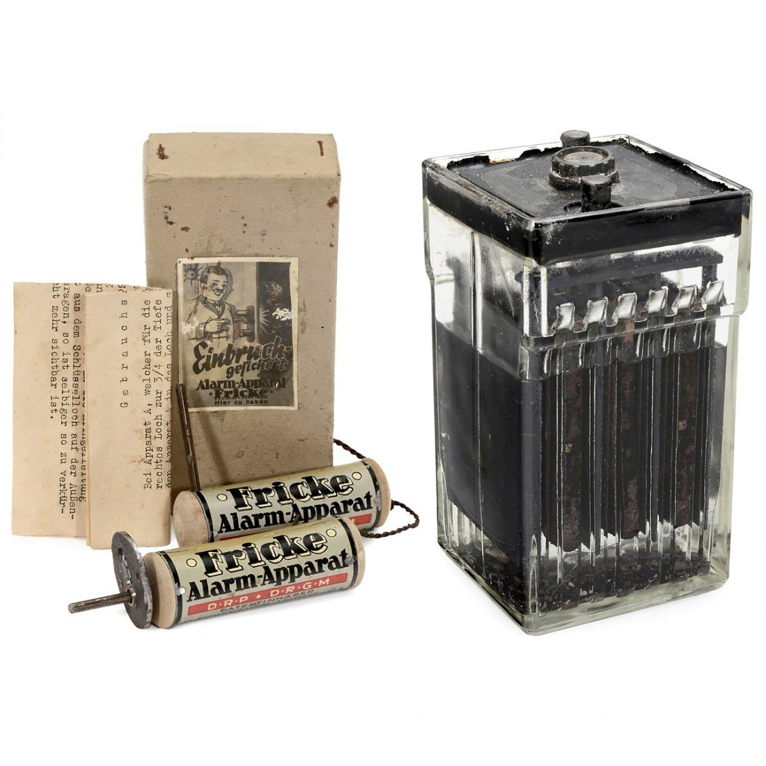 Early Door Alarm System With Glass Battery C 1920 Door Alarms Alarm System Glass