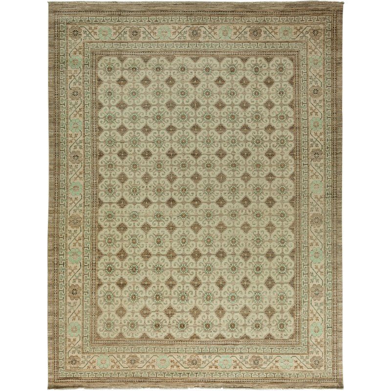 Khotan Hand Knotted Area Rug 9 2 X 11 6 Wool Area Rugs Area