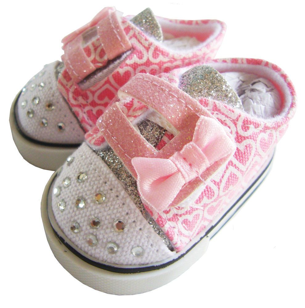 """Light Pink Rhinestone Slippers Fits 18/"""" American Girl Doll Clothes Shoes"""