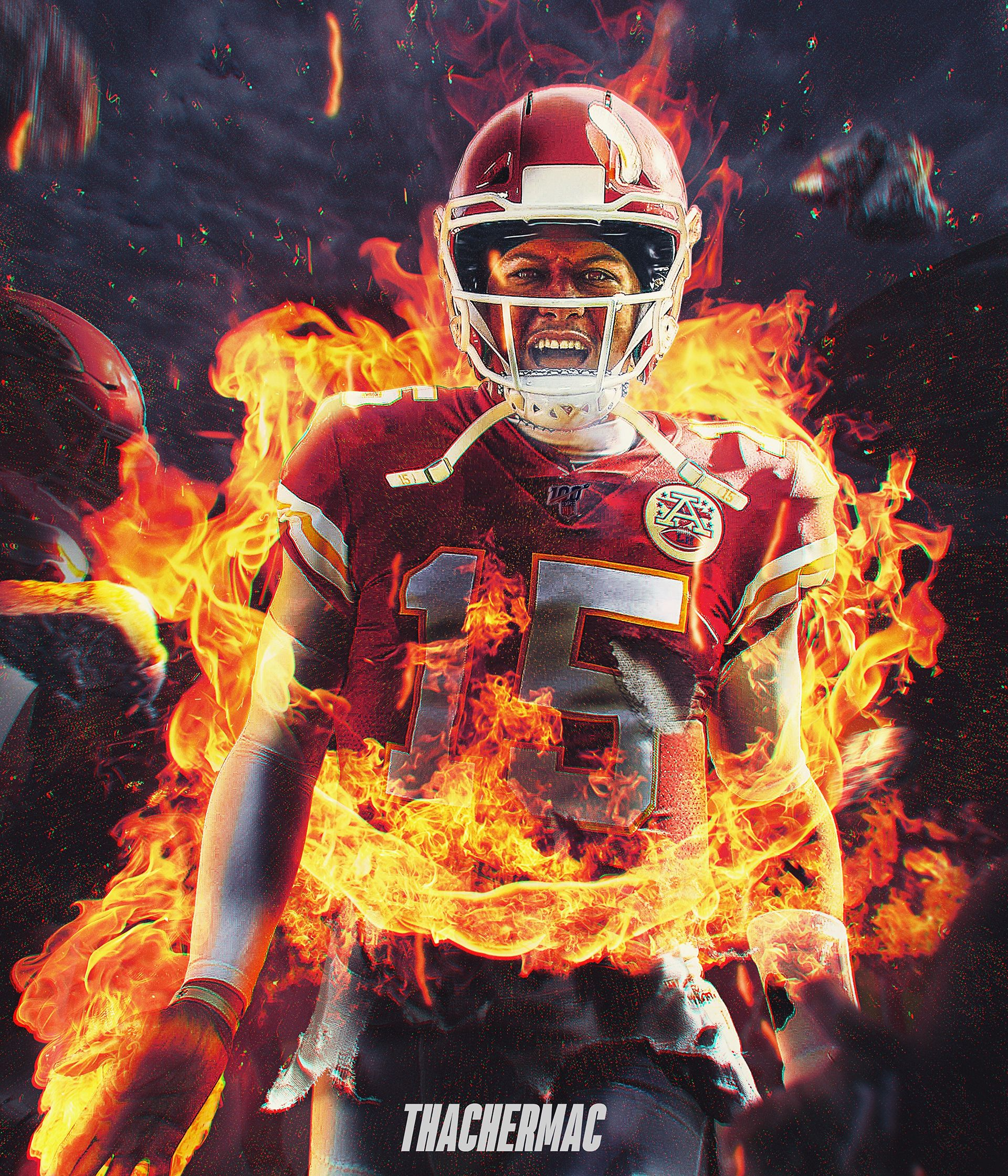Patrick Mahomes Nfl On Fire On Behance Chiefs Wallpaper Nfl Football Art Nfl Football Wallpaper