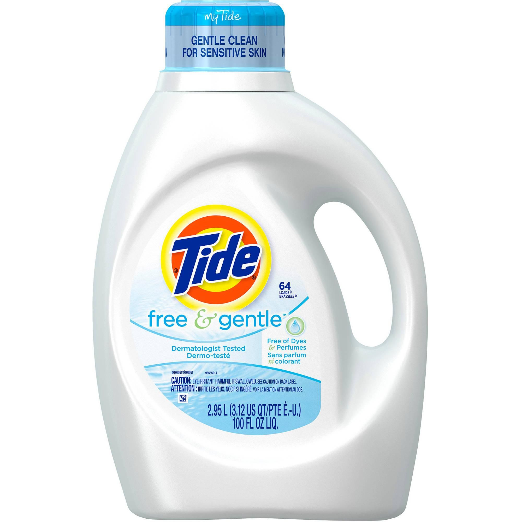 Tide Free Amp Gentle Laundry Detergent Packaging Cleaning