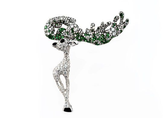 Deer Brooch of Cindy Chao Forest Series